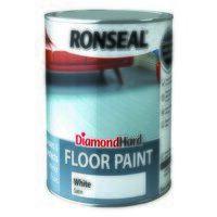 Diamond Hard Floor Paint Satin White 2.5 litre