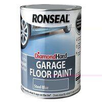 Diamond Hard Garage Floor Paint Steel Blue 2.5 litre