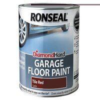 Diamond Hard Garage Floor Paint Tile Red 2.5 ...