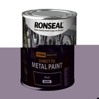 Direct to Metal Paint Black Gloss 250ml