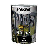 Direct to Metal Paint Black Satin 2.5 litre