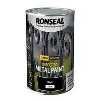 Direct to Metal Paint Black Satin 750ml