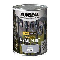 Direct to Metal Paint Steel Grey Gloss 250ml