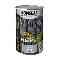 Direct to Metal Paint Steel Grey Gloss 750ml
