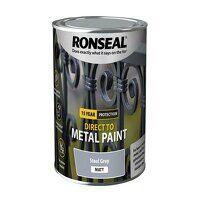 Direct to Metal Paint Steel Grey Matt 750ml