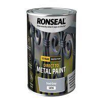 Direct to Metal Paint Steel Grey Satin 750ml