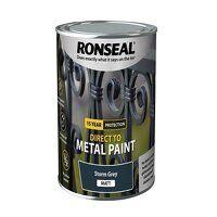 Direct to Metal Paint Storm Grey Matt 750ml