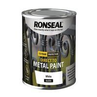 Direct to Metal Paint White Gloss 250ml