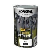 Direct to Metal Paint White Gloss 750ml
