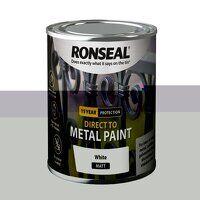 Direct to Metal Paint White Matt 250ml