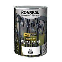 Direct to Metal Paint White Matt 2.5 litre