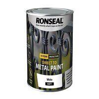 Direct to Metal Paint White Matt 750ml