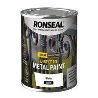 Direct to Metal Paint White Satin 250ml
