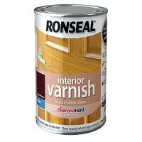 Interior Varnish Quick Dry Satin Deep Mahogany 250...