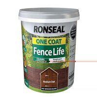 One Coat Fence Life Medium Oak 5 litre