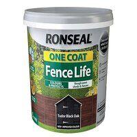 One Coat Fence Life Tudor Black Oak 5 litre