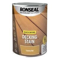 Quick Drying Decking Stain Country Oak 2.5 litre