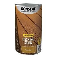 Quick Drying Decking Stain Country Oak 5 litre