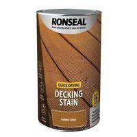 Quick Drying Decking Stain Golden Cedar 5 litre
