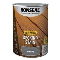 Quick Drying Decking Stain Rocky Grey 2.5 litre