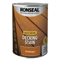 Quick Drying Decking Stain Rich Mahogany 2.5 litre