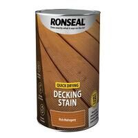 Quick Drying Decking Stain Rich Mahogany 5 litre