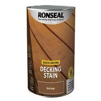 Quick Drying Decking Stain Rich Teak 5 litre