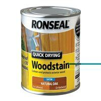 Quick Drying Woodstain Satin Natural Oak 250ml