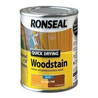 Quick Drying Woodstain Satin Natural Pine 250ml