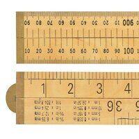 Wooden 4 Fold Rule 1m / 39in (Blister pa...
