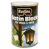 Satin Black Paint Quick Drying 250ml