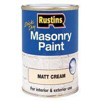 Quick Dry Masonry Paint Matt Cream 500ml