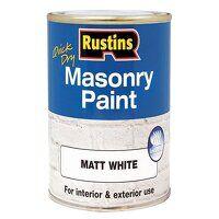Quick Dry Masonry Paint Matt White 250ml