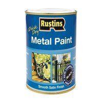 Quick Drying Metal Paint Smooth Satin Black 1 Litr...