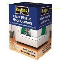 Clear Plastic Floor Coating Kit Satin 1 litre