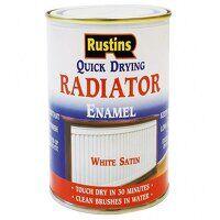Quick Dry Radiator Enamel Paint Satin White 500ml