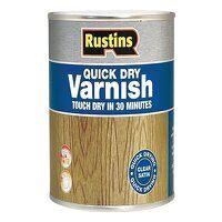 Quick Dry Varnish Satin Mahogany 500ml