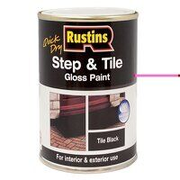 Quick Dry Step & Tile Paint Gloss Black 500ml