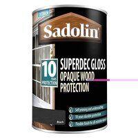 Superdec Opaque Wood Protection Black Gloss 1 litr...