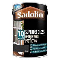 Superdec Opaque Wood Protection Black Gloss 2.5 li...