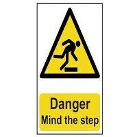 Danger Mind The Step - PVC 200 x 300mm