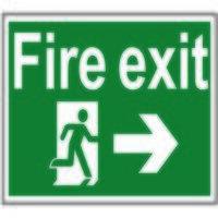 Fire Exit Running Man Arrow Right - PVC ...