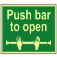 Push Bar To Open - Photoluminescent 300 ...