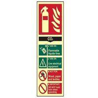 Fire Extinguisher Composite CO2 - Photoluminescent...