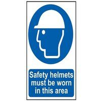 Safety Helmets Must Be Worn In This Area - PVC 400...