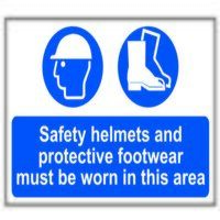 Safety Helmets + Footwear To Be Worn PVC 600 x 400...