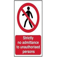 Strictly No Admittance To Unauthorised Persons - P...