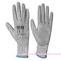 Grey PU Coated Cut 3 Gloves - L (Size 9)