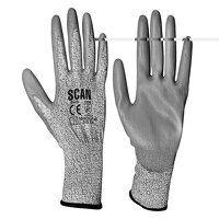 Grey PU Coated Cut 3 Gloves - XXL (Size 11)