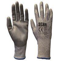 Grey PU Coated Cut 5 Gloves - XXL (Size 11)